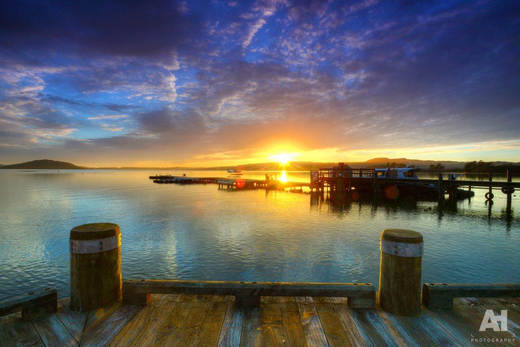 Lake front sunrise