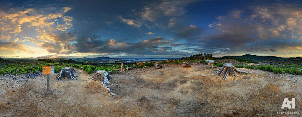 360° Tokorangi Pa Track Sunset