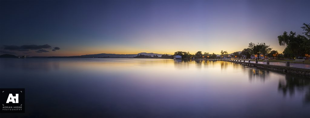Blue Hour over Lake Rotorua