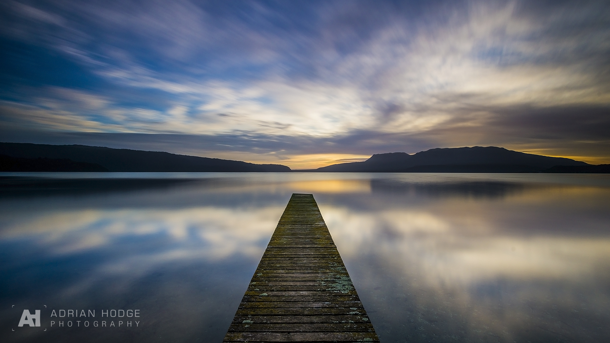 Colours Tranquility Over Tarawera Adrian Hodge Photography
