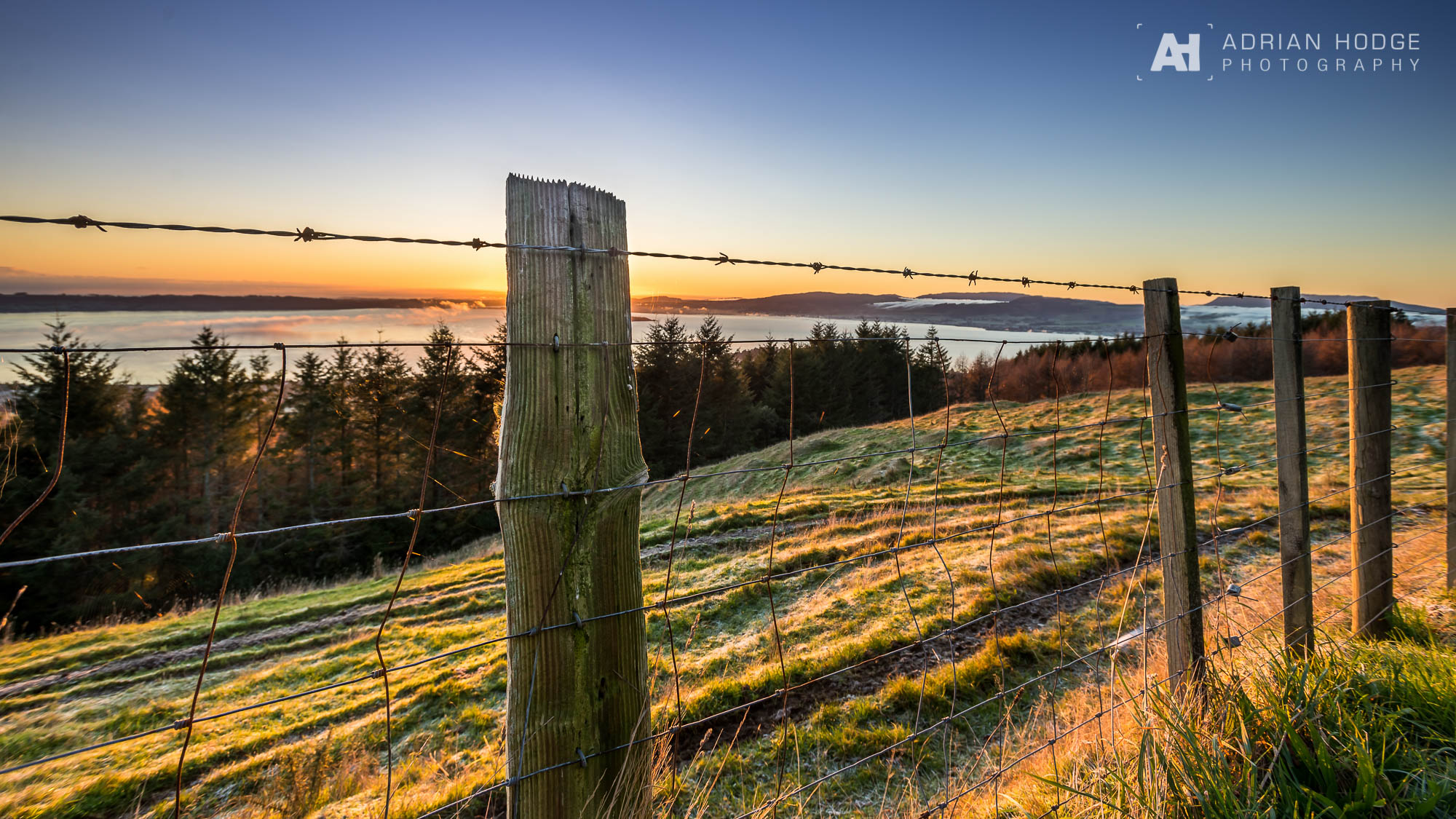 Fenced Off - Mountain Road Sunrise - Adrian Hodge Photography