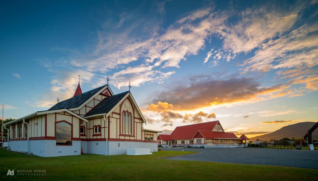 Sunset over St Faith's Church