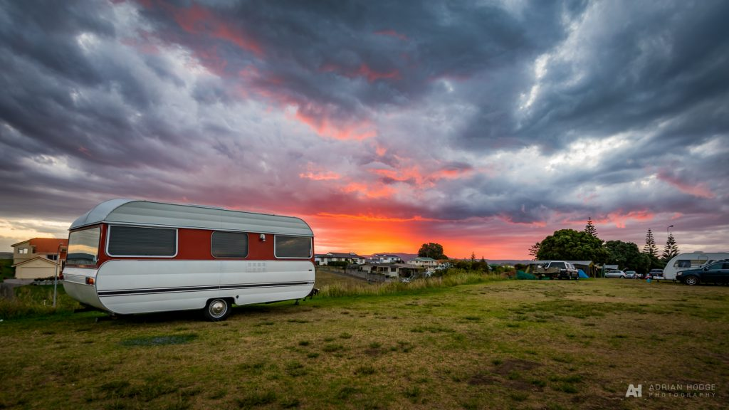 Ohope Campervan Sunset