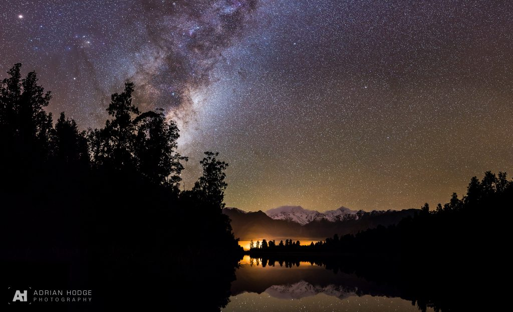 Lake Matheson at Night
