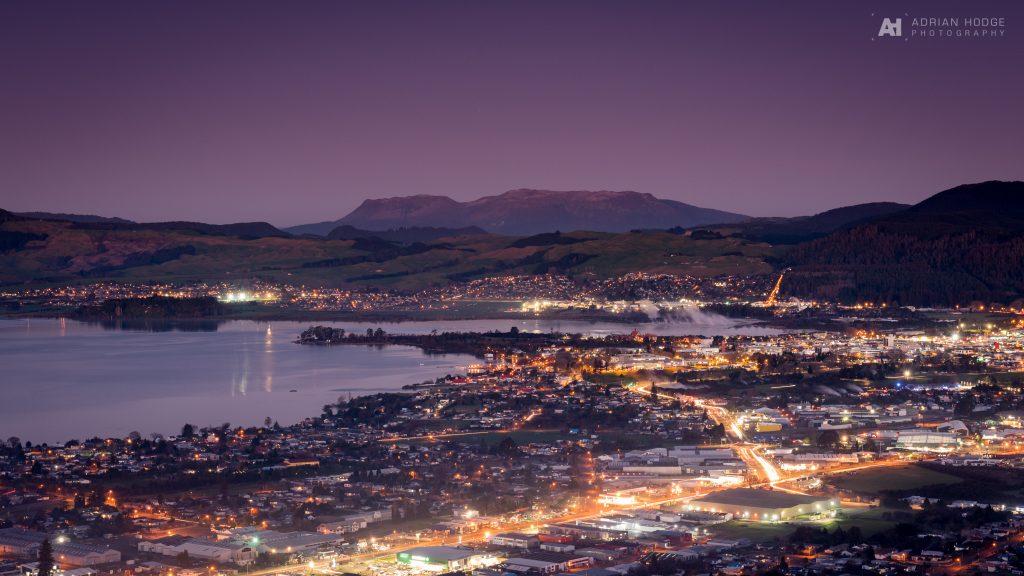 Twilight over Rotorua