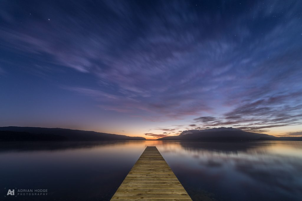 Tarawera Jetty at sunrise