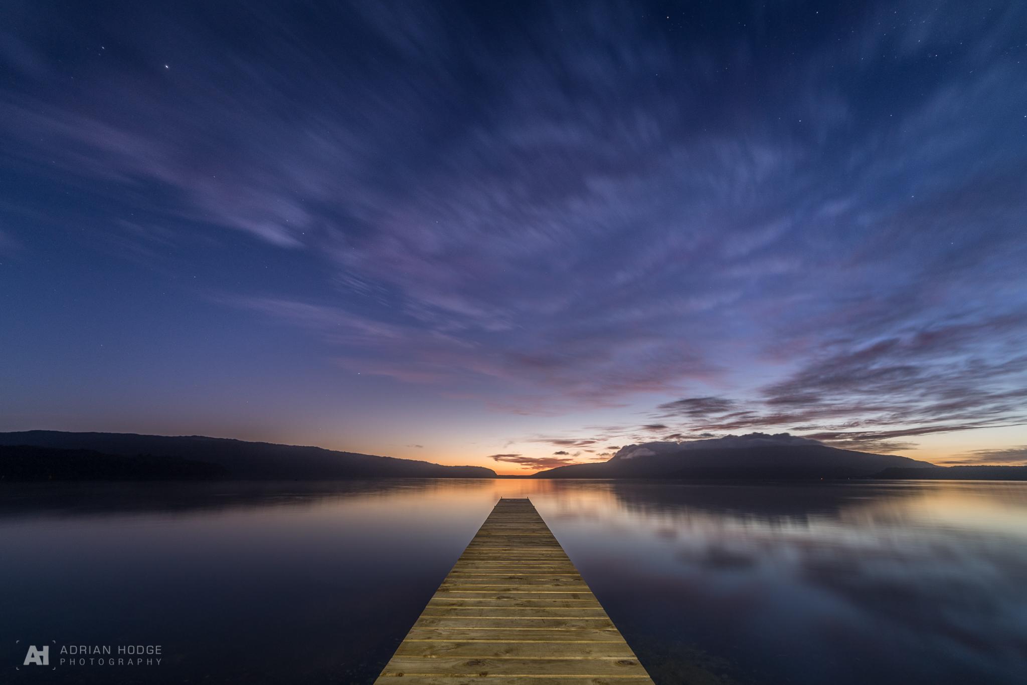 Tarawera Jetty at sunrise