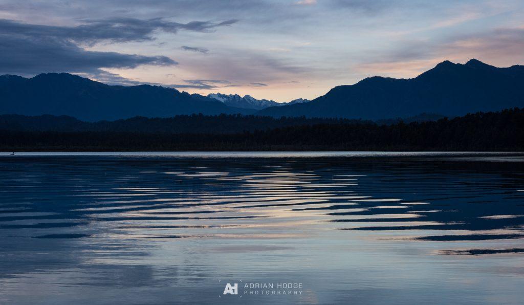 Sunrise over Okarito Lagoon