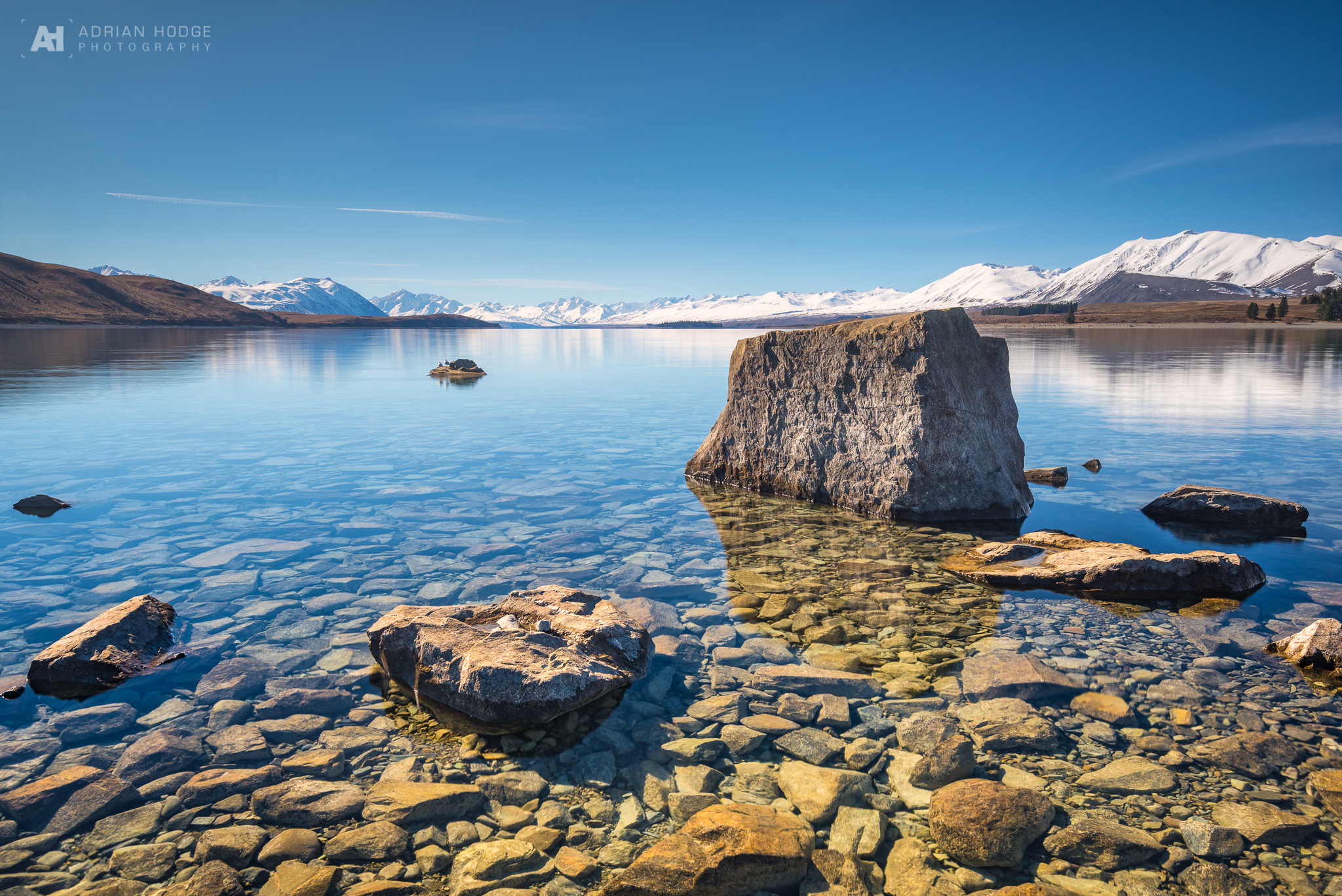 Crystal clear waters of Lake Tekapo