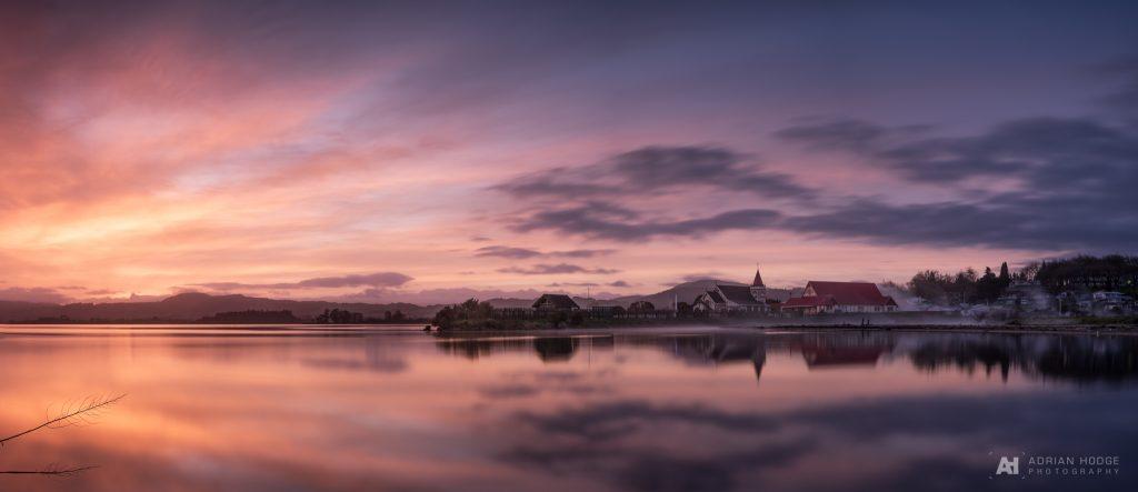 Dawn over Ohinemutu