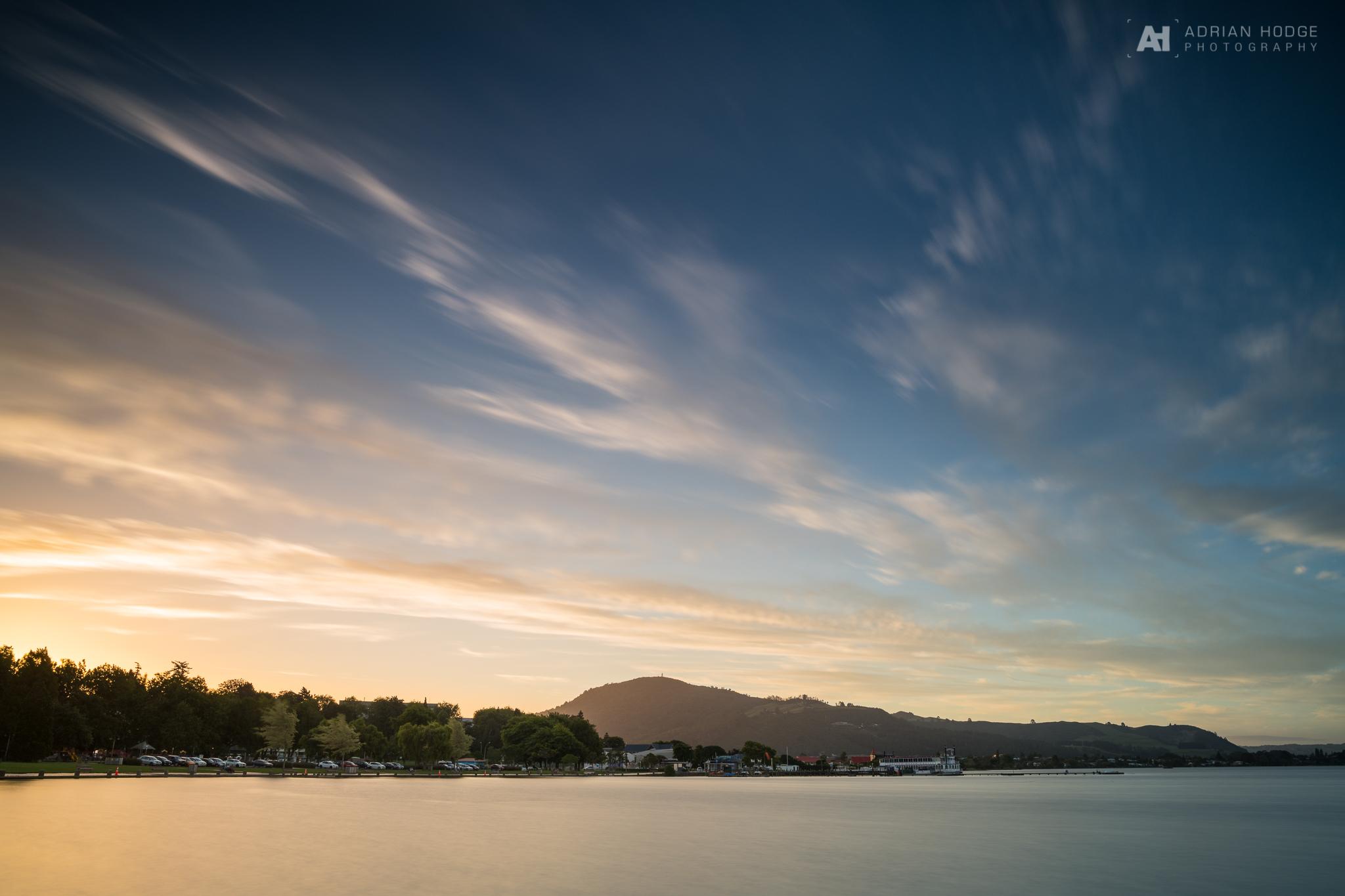 Sunset over Rotorua Lakefront - © Adrian Hodge Photography