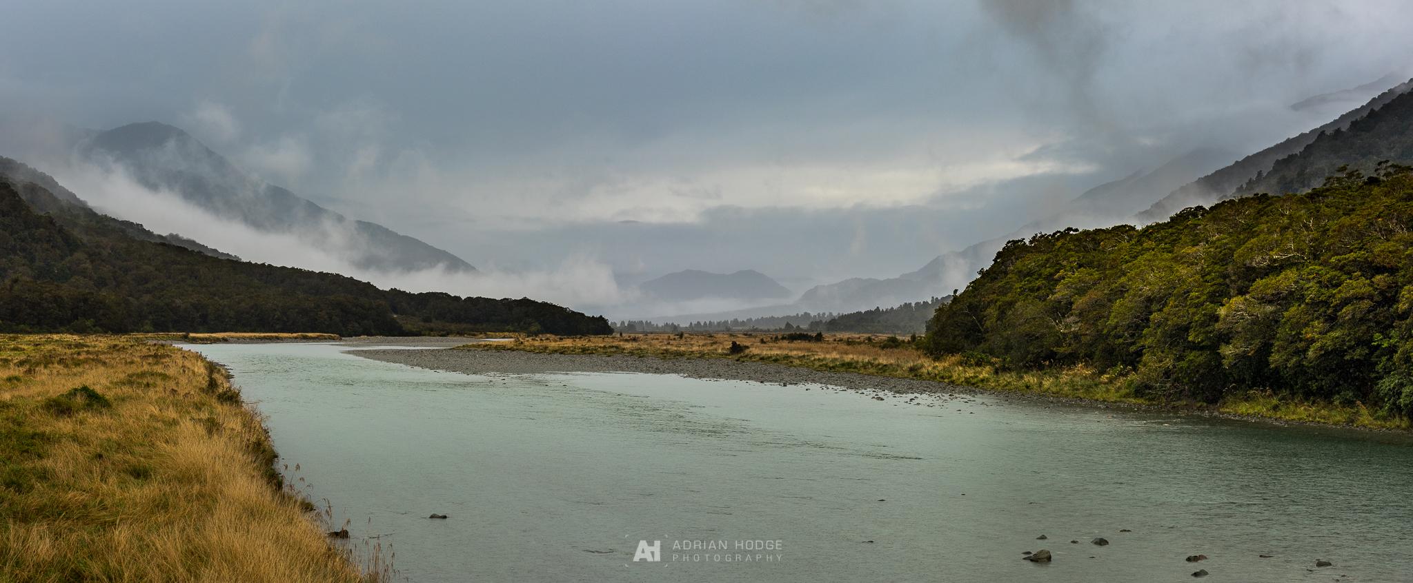 Haast River Panorama