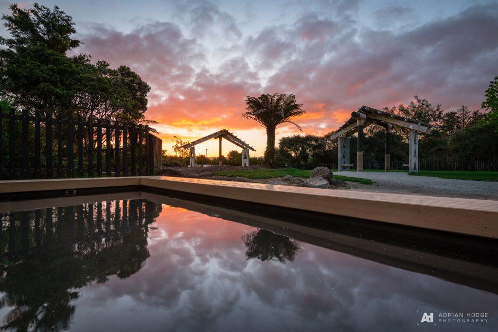 Kuirau Park Footbath Sunset