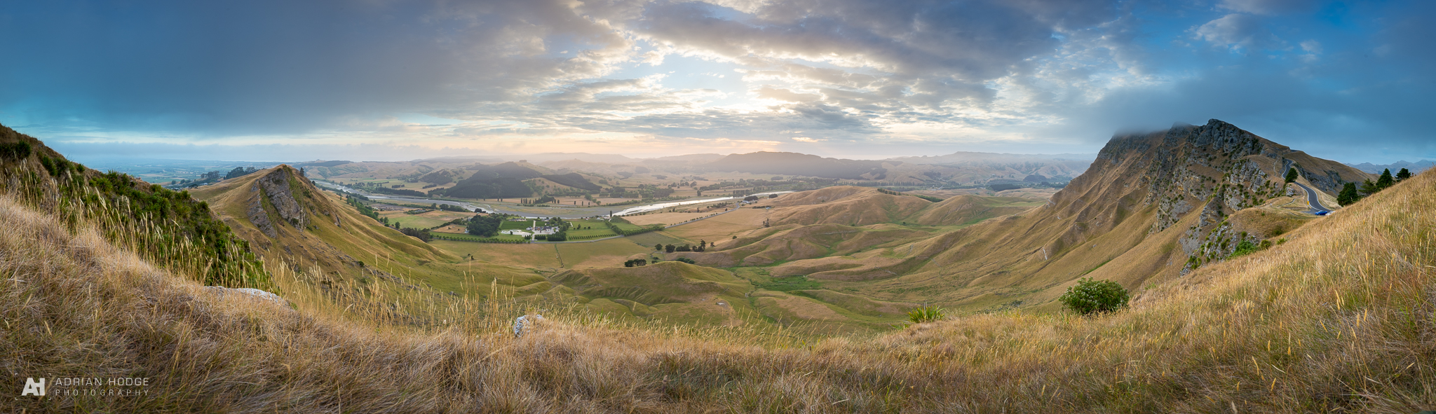 A massive 39 frame HDR panorama of the expansive view from Te Mata Peak