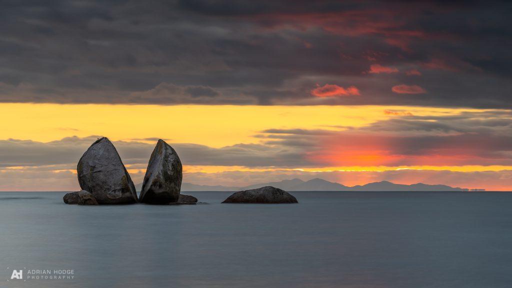 Sunrise at Split Apple Rock