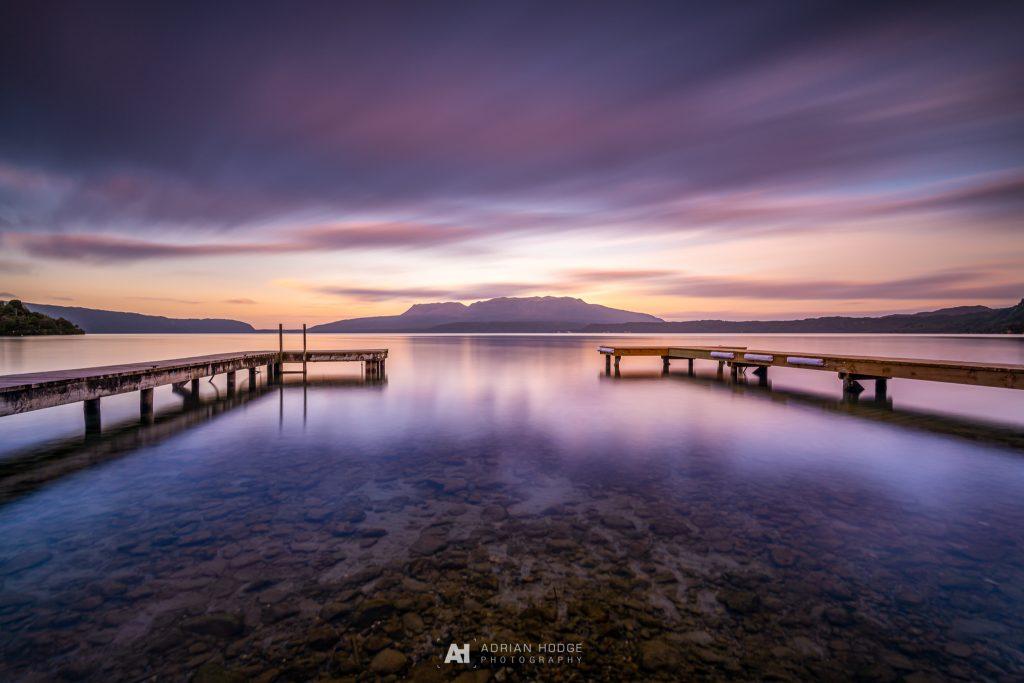Double Tarawera Sunset
